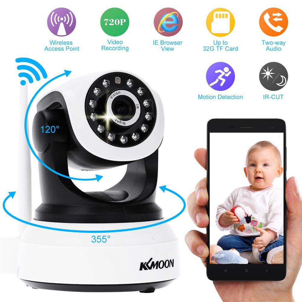 KKMOON Wifi inalámbrico 720P P2P cámara RED CMOS sensor hogar IR cámara de seguridad sistema de cámara de vigilancia