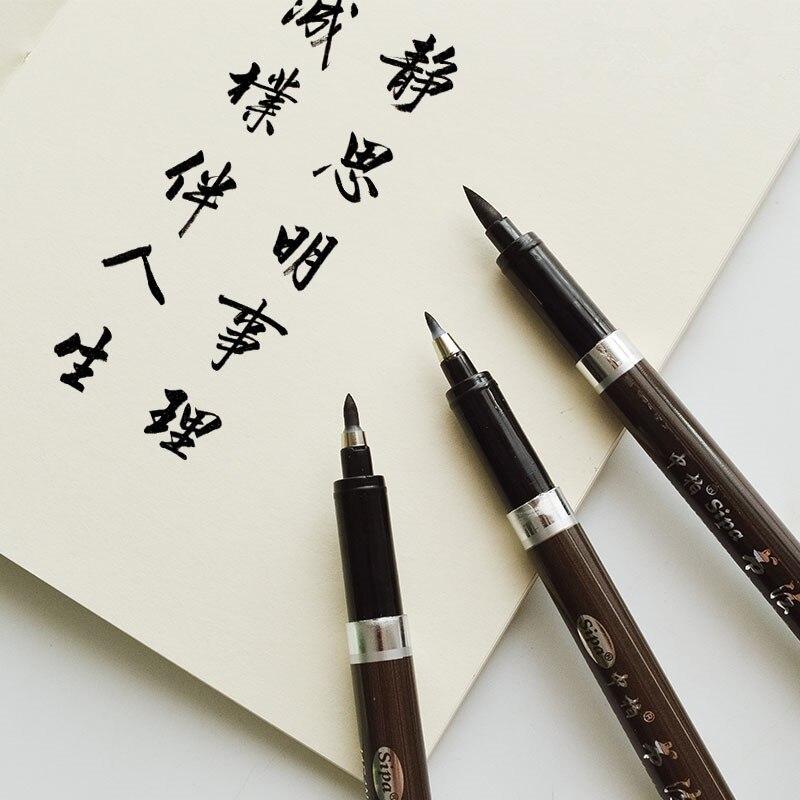 Pincel para caligrafía, Marcadores Manga finos, suministros de arte, Marcadores Rotuladores, delineador,...