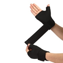 1 Pair Wrist Guard Band Brace Support Carpal Pain Wraps Bandage Black Blue Bandage Wrist Brace Support High Qualuity