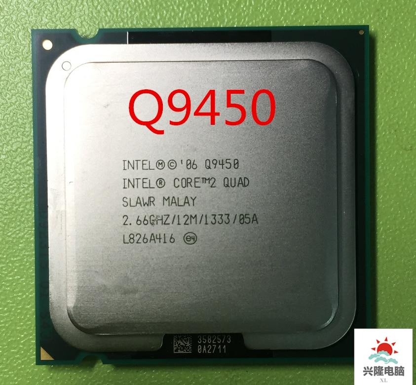 Lntel Core 2 Quad Q9450 processeur dunité centrale (2.66Ghz/ 12M /1333GHz) Socket 775 CPU de bureau (fonctionnement 100% livraison gratuite)