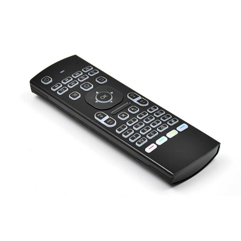 Teclado inalámbrico MX3 MX3-L retroiluminada ratón de aire T3 inteligente Control remoto por voz 2,4G RF para X96 Tx3 Mini A95X H96 Pro Android TV Box