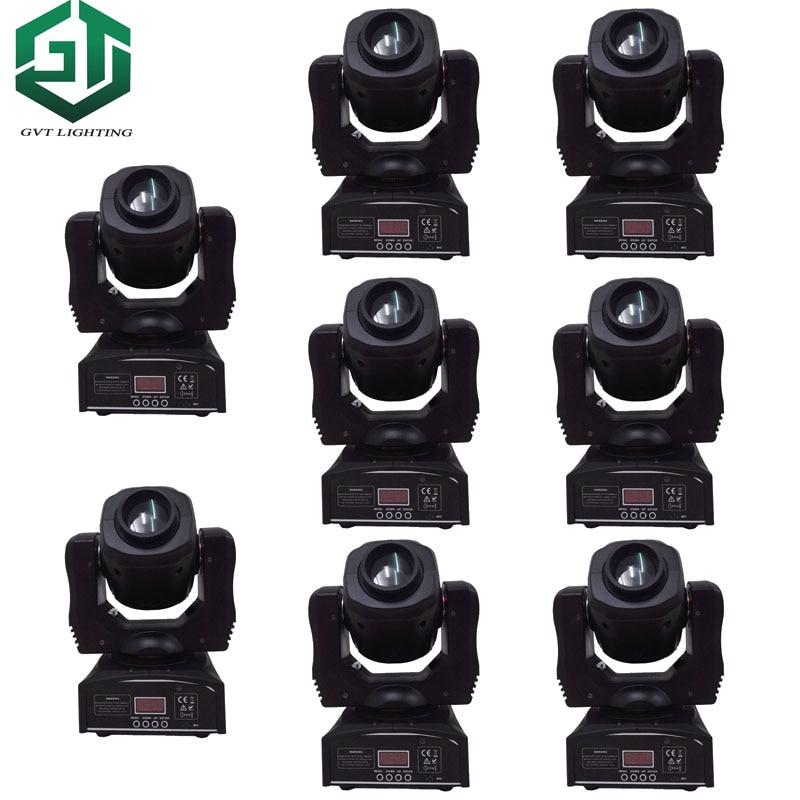 8 unids/lote 60W Led Spot 7 Gobos luz con cabezal móvil DMX 9/11 canales maestro esclavo Auto correr sonido activo música controlado disco lámpara