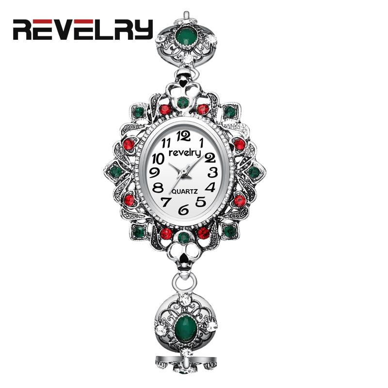 REVELRY Women Watches Luxury Brand Watch Silver Bracelet Fashion Lady Wrist For Gifts relogio feminino