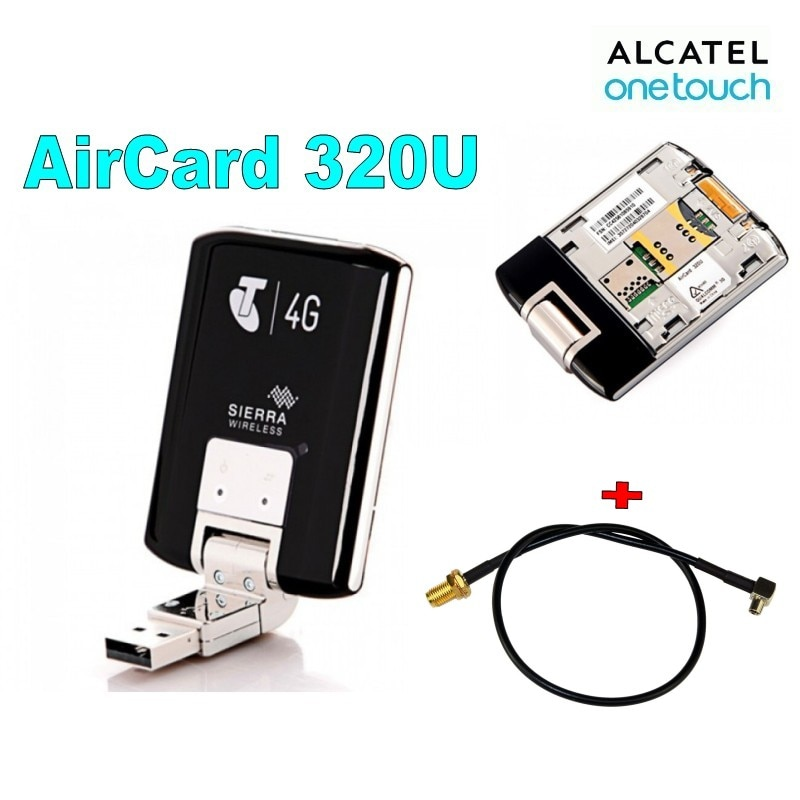 Lote de 10 Uds desbloqueado Sierra AirCard 320U USB 4G LTE módem inalámbrico 100Mbps enrutador móvil +