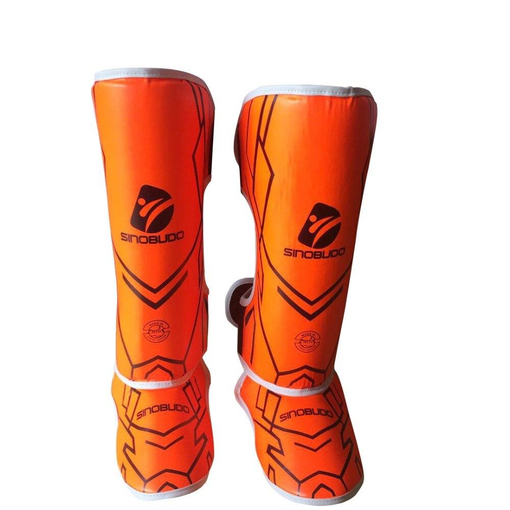 Adulto de Alta Boxe Caneleiras Kick Muay Thai Karate pé Protetor Qualidade Algodão Haste Borracha Perna Protetores Mma Pad