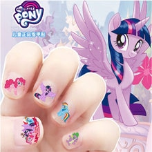 Детские наклейки для ногтей My Little Pony, Детские Водонепроницаемые наклейки для ногтей с изображением Принцессы Диснея, Эльзы и Анны