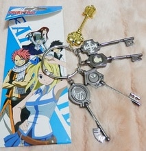 Anime Fairy Tail Lucy Cosplay llavero de escala y tatuaje Rosa gratis Heartfilia signo del zodiaco oro llavero modelo Accesorios