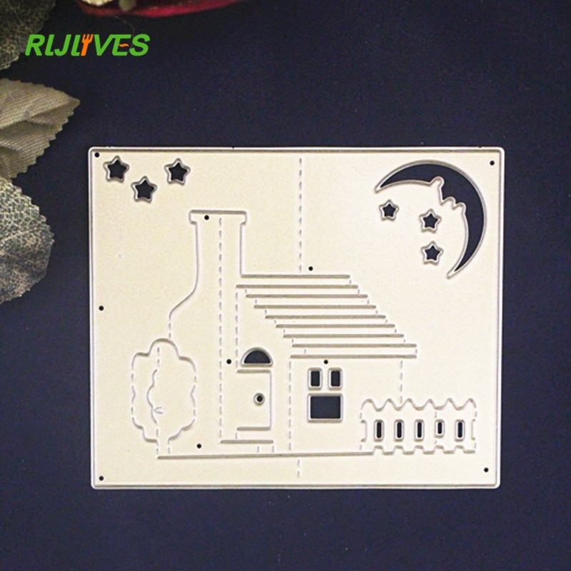 Troqueles de corte de Metal RLJLIVES estéreo 3D para casa, encantadora tarjeta álbum de recortes familiar, arte de papel decorativo cortador, creador de relieves