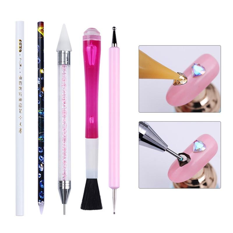 Lápiz para punteado de doble punta, marcador, pintura de estampado de puntos, lápiz de flores, agua, mármol, herramienta artística para uñas 1 pieza para esmalte de Gel