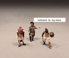 pvc  figure Doll model toy Ancient European Dolls Ancient Roman Gladiator Caesarr Great Model Decoration 3pcs/set