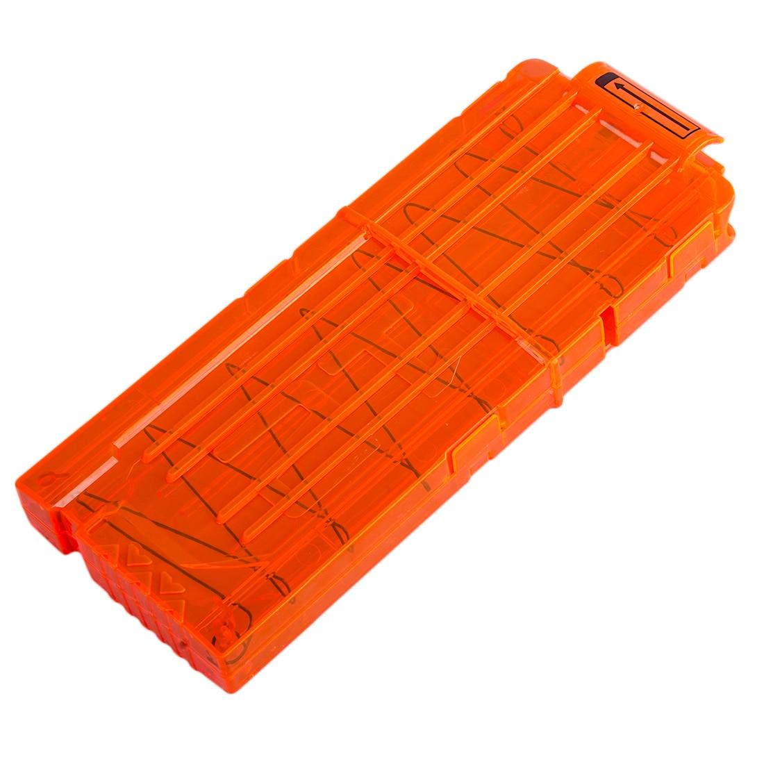 12 Reload Clip Magazines Round Darts Replacement Plastic Magazines Toy Gun Soft Bullet Clip Orange For Nerf N-Strike