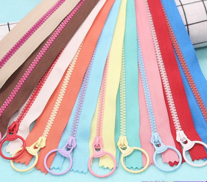 2pcs 15cm/20cm/30cm/40cm  Resin Zippers Pull Ring Zipper Head DIY Sewing Handwork Bag Garment Accessory