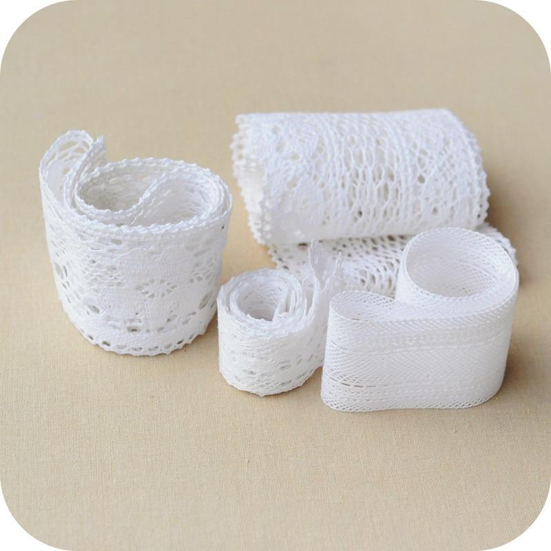 5yards 4-6cm Width White Cotton  Lace Trims  Bridal Wedding Cotton Lace Trim Craft Edging
