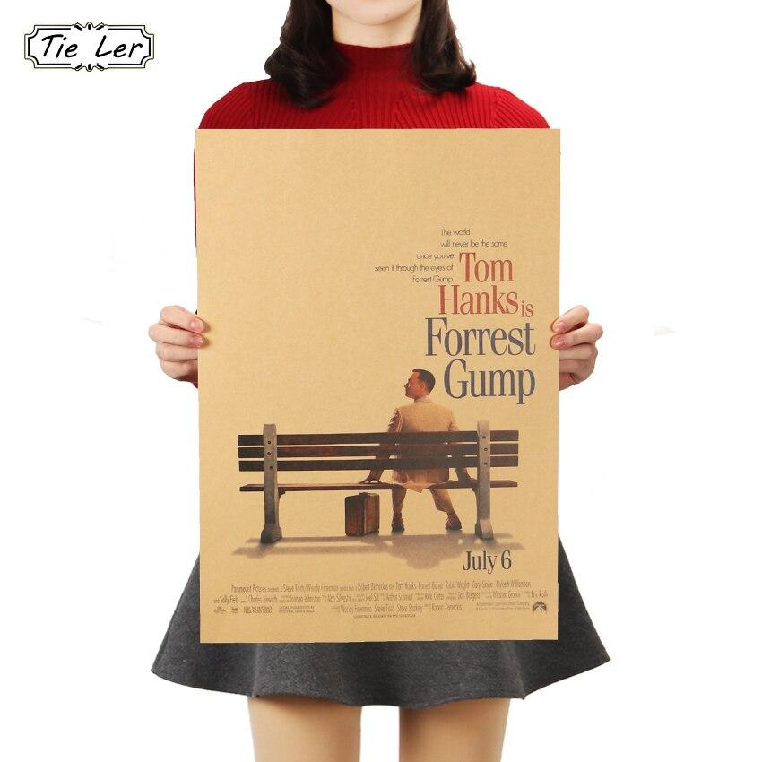 Бу Яо Шан Цзя Форрест Гамп само улучшение классический постер кино домашнего интерьера украшения Крафт-Рисунок
