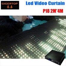 Gigertop P18 2 M * 4 M ignifuge créatif Flexible LED rideau vidéo DJ scène professionnel motif effet LED rvb tissu Pitch 18 cm