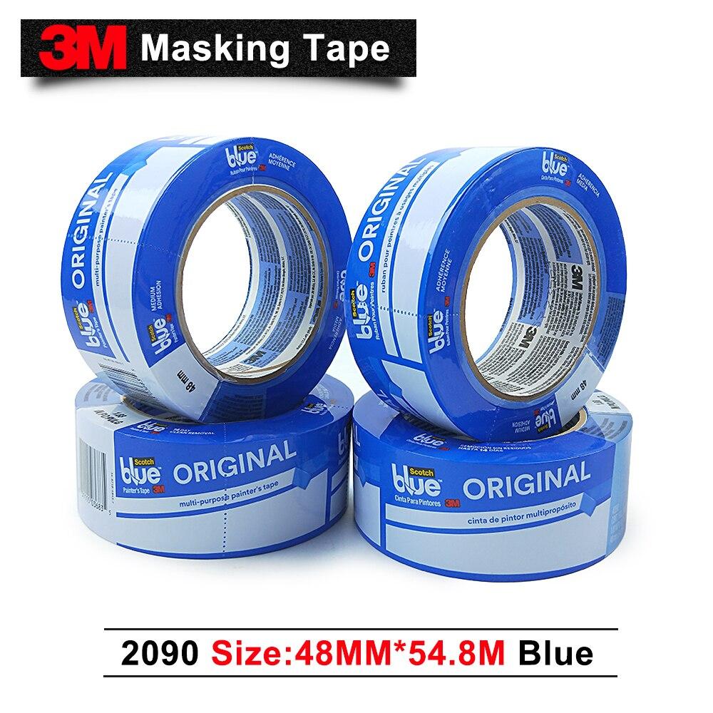 3 متر اخفاء الشريط/3 متر الأصلي 2090 متعدد السطوح الأزرق 48 ملليمتر * 54.8 متر * 10 فات