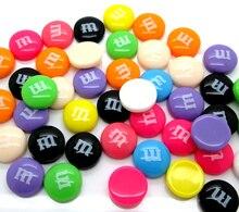 Décoration en résine mélangée lettre M   50 pièces 14mm, Cabochon plat, perle, Scrapbook, accessoires boutons bricolage