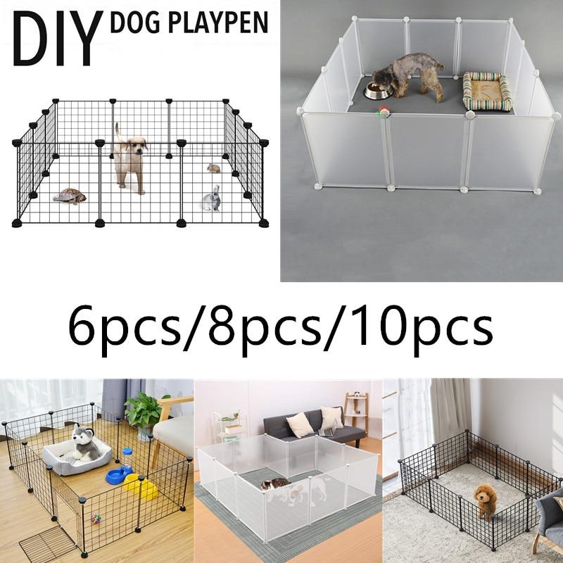 Jaula de animales pequeños plegable para perros de compañía, jaula de entrenamiento...