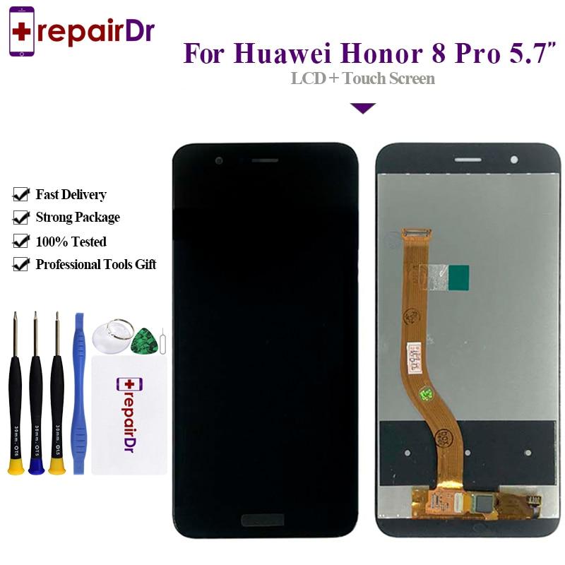 ЖК-дисплей для HUAWEI Honor 8 Pro, новый сенсорный экран 5,7 дюйма с цифровым преобразователем в сборке для Honor V9 DUK-L09 DUK-AL20, 5 шт./партия