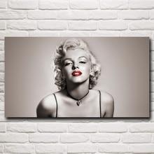 Sexy Lady Marilyn Monroe Art Silk Tecido Poster Prints Início Wall Decor Pictures 11x20 16x29 20x36 Polegadas Frete Grátis
