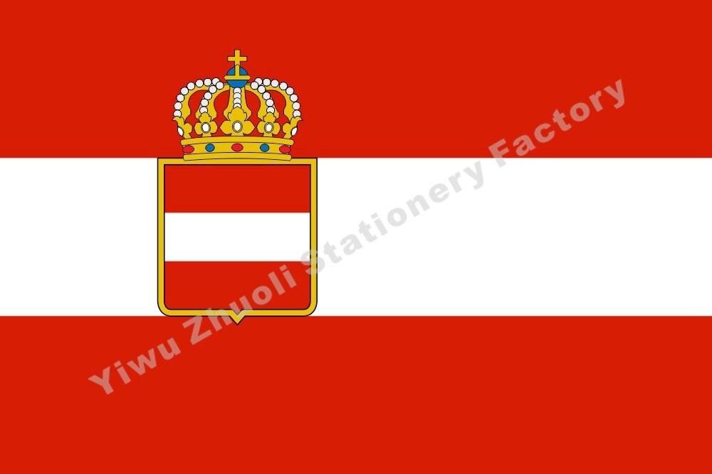 Austro alférez Civil Austria Hungría 1786 bandera 150X90cm (3x5FT) 120g 100D de alta calidad bandera envío gratis