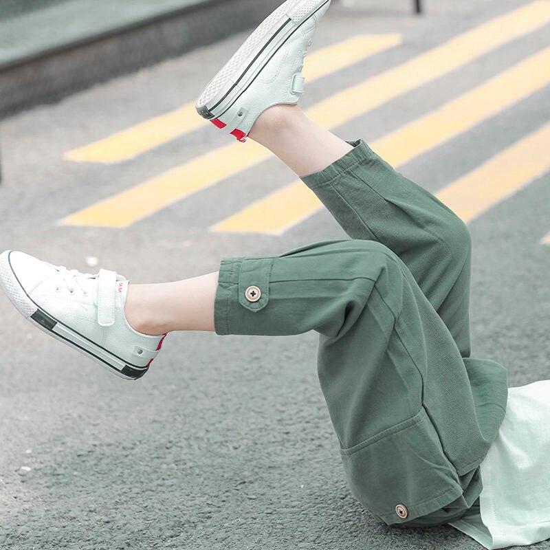 Pantalones para chicos populares INS de 4-13 años de edad, pantalones cortos de verano con Bolsillo grande, monos de moda para niños, pantalones de algodón, regalo para niños