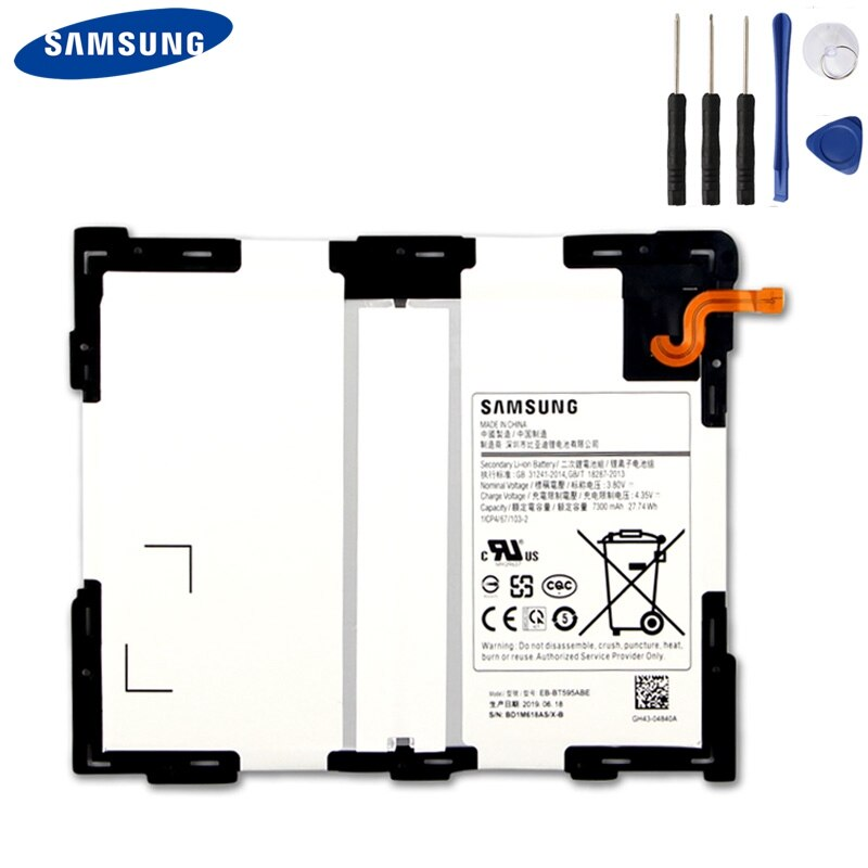 Original Samsung Battery EB-BT595ABE For Samsung Galaxy Tab A2 10.5 SM-T590 T595 7300mAh