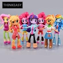 Whole sale Price 13cm little Cute Magic Princess Luna Celestia Rainbow Horse Poni Action Figurine Dolls for Girl Unicorn doll