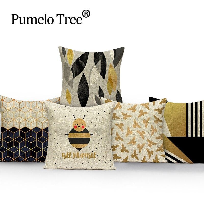 Geométrica Cojines De colores decorativos almohadas rayas abejas almohada étnicas Cojines Housse De Coussin decorativas almofadas