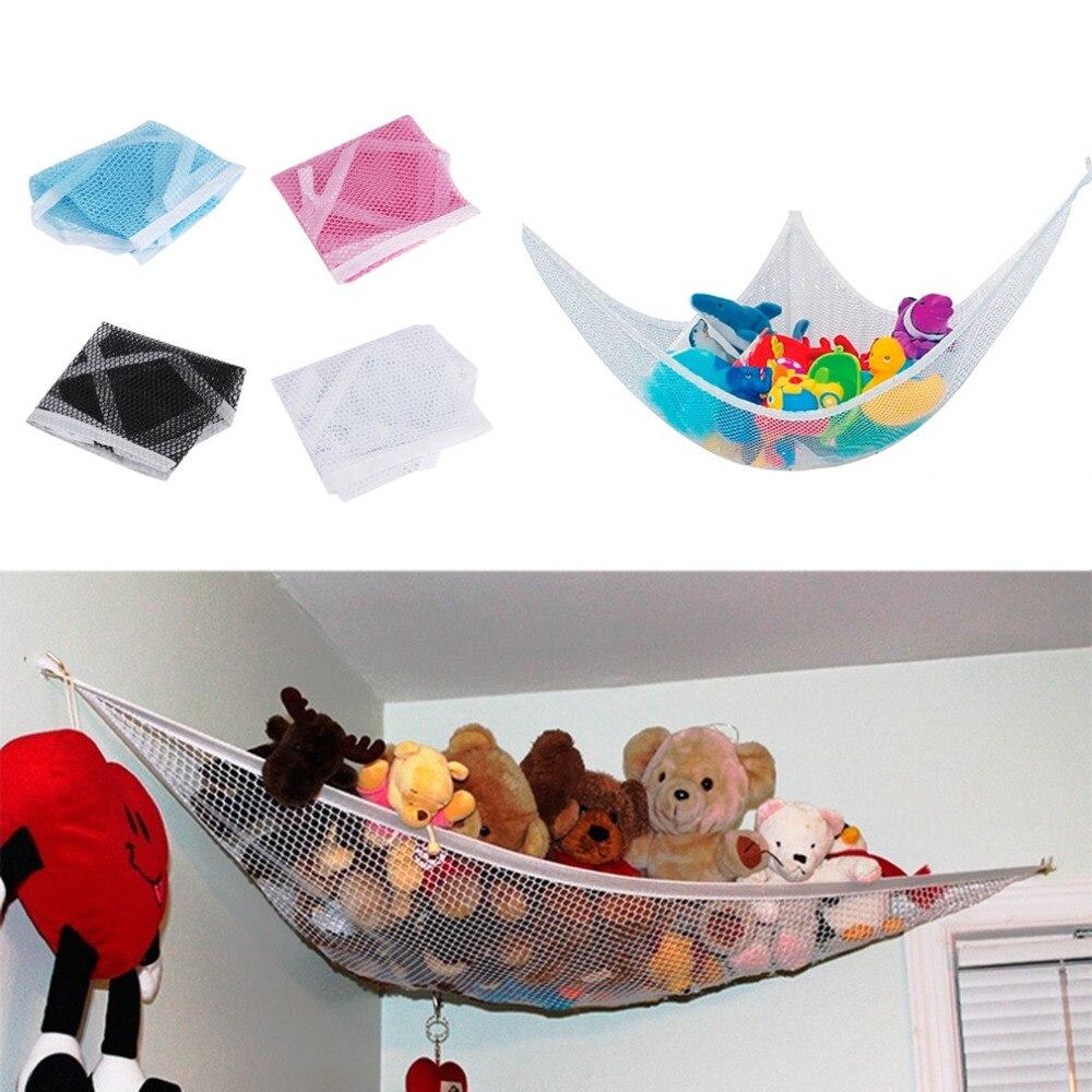 Mueble con hamaca de juguete, columpio, red organizadora, soporte de almacenamiento, bonito cuarto de niños relleno, 4 colores, 80x60x60cm, Dropshipping, 2018 nuevo