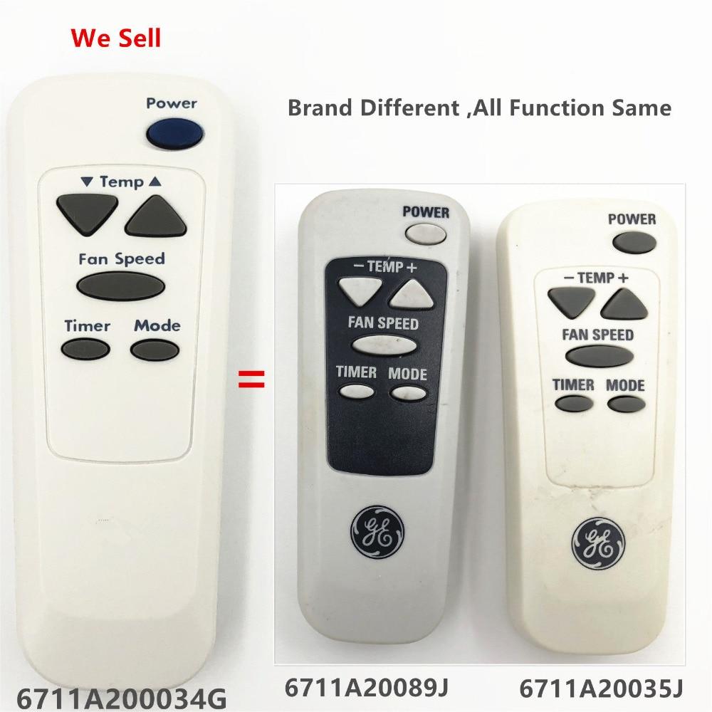 Новый оригинальный пульт дистанционного управления 6711A20034G, совместимый с 6711A20089J 6711A20035J для LG/GE, кондиционера для окон