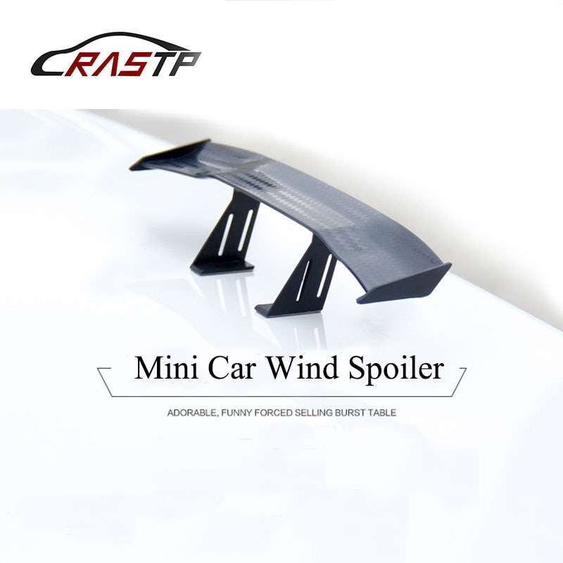 Rastp-car 17cm negro fibra de carbono Twil Look GT Tiny Mini alerón de ala alerón trasero decorativo RS-LKT017