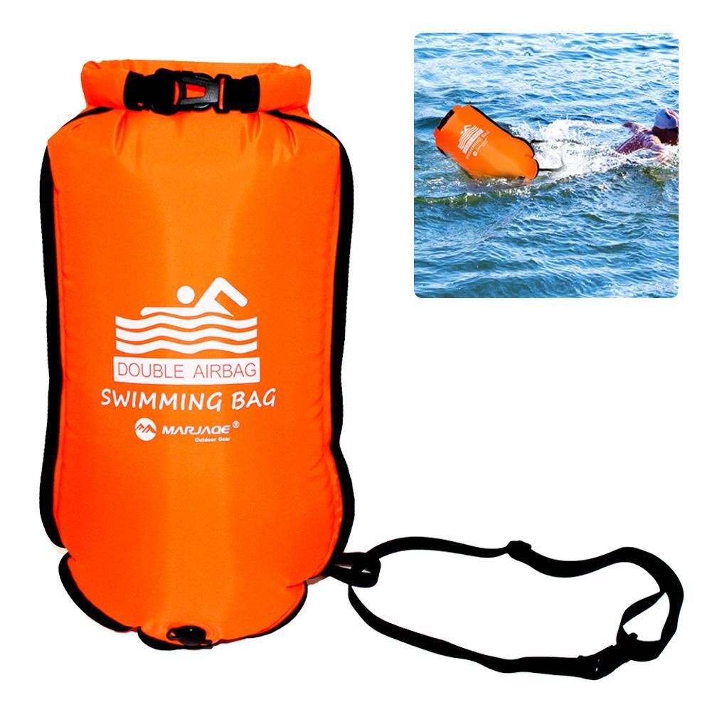 Двойные подушки безопасности утолщенная надувная плавательная сумка плавающий