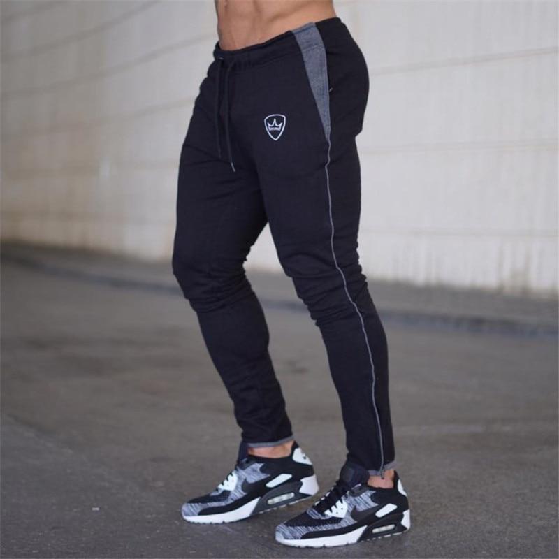 YEMEKE, pantalones deportivos 2019 de algodón para hombre, pantalones deportivos informales elásticos para hombre, pantalones deportivos ajustados, pantalones de chándal, pantalones para correr