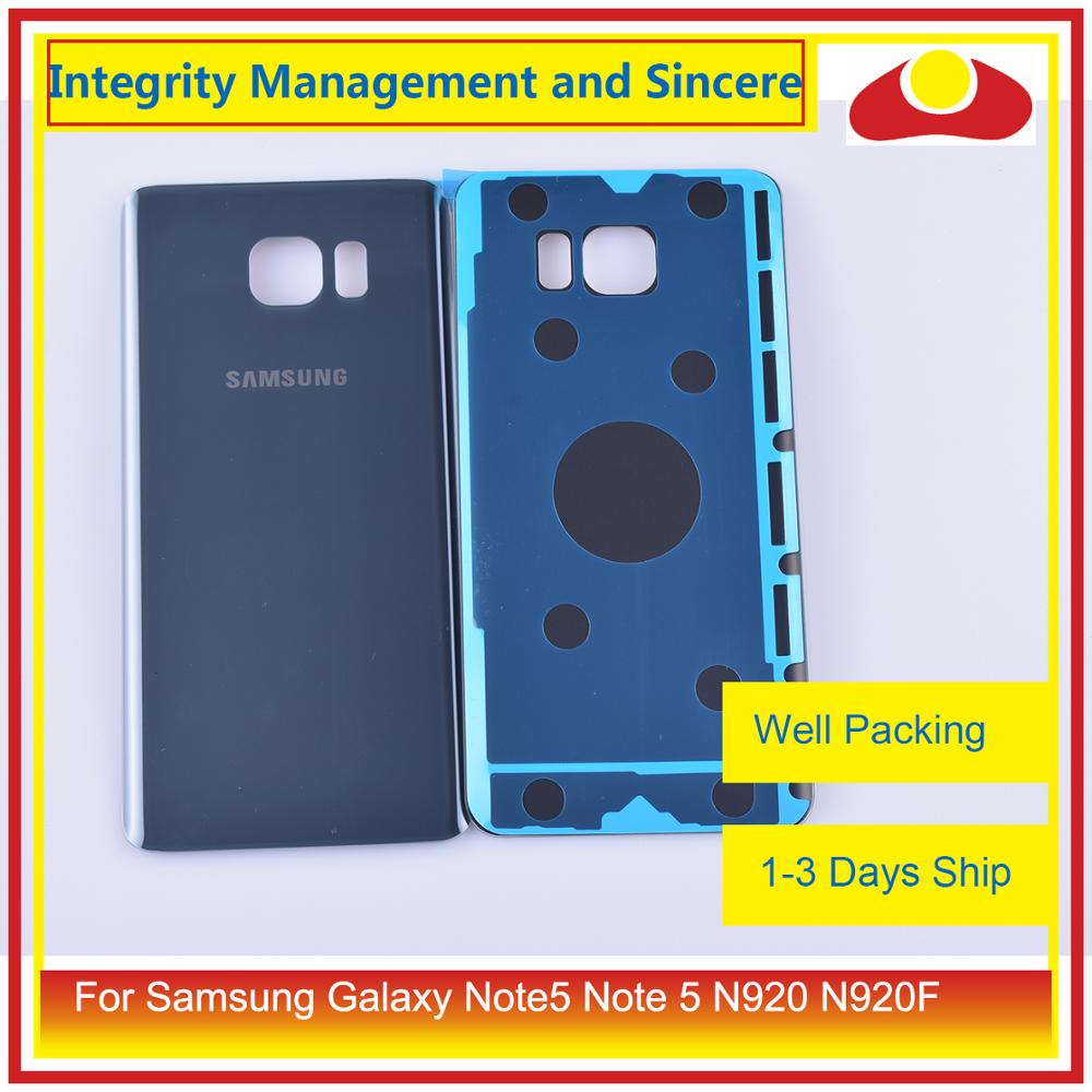 50Pcs/lot For Samsung Galaxy Note5 Note 5 N920 N920F Housing Battery Door Rear Back Glass Cover Case Chassis Shell enlarge