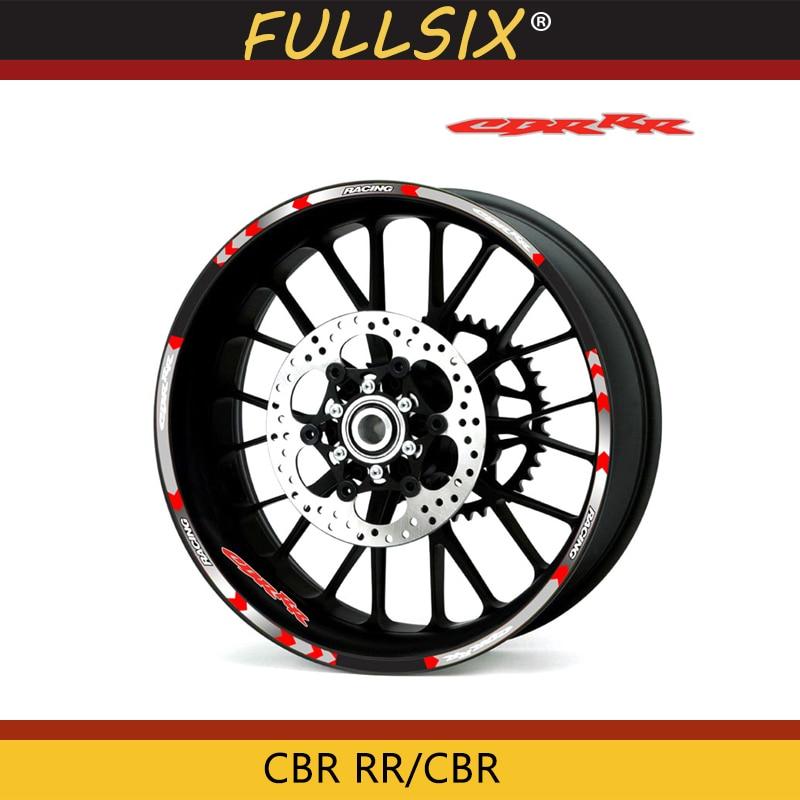 Oferta, adhesivo para rueda de motocicleta de alta calidad, pegatina reflectante para bicicleta de borde, adecuado para Honda CBR RR CBR CBR1000 600RR 650R 300R