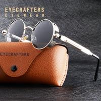 Солнцезащитные очки в стиле стимпанк для мужчин и женщин, Поляризованные, в металлической оправе, в стиле ретро, в стиле стимпанк, с защитой ...