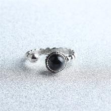 المجوهرات الكورية المجوهرات شخصية الرجعية العقيق حلقة الإناث مهرج حلقة الساخن بيع الفضة الجمال مجوهرات خواتم لذيذة الجمال