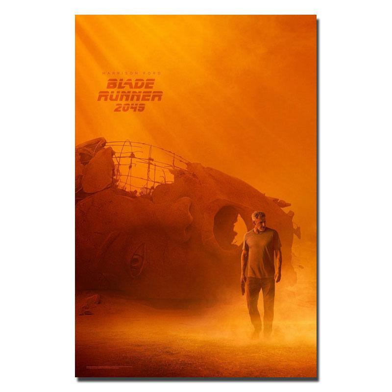 0313A Blade Runner 2049 Harrison Ford Ryan goding-Adhesivo de pared de seda póster lienzo ligero Decoración