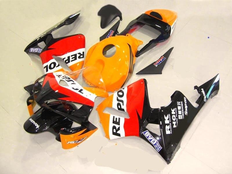 H-para Honda CBR600RR CBR 600RR CBR 600 RR F5 2003 2004 03 04 rojo naranja carenado blanco kit carrocería ABS motocicleta REPSOL