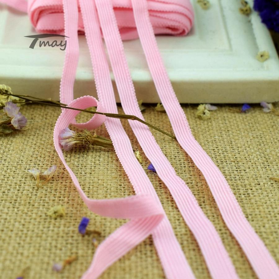 #1396, pantalones rosas finos y lisos, bandas elásticas de borde, banda de goma, ropa, molduras encaje elástico, cinta para bebé niña, accesorios para falda