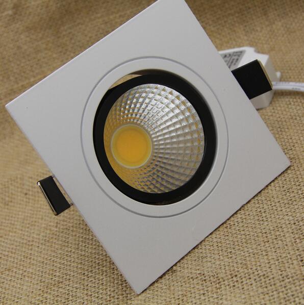 السوبر مشرق COB عكس الضوء Led النازل 7w 9w 12w 15w مربع راحة LED بقعة ضوء الدافئة بارد الأبيض أضواء داخلية
