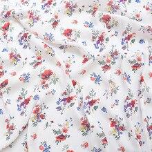 145x100cm Floral Print Imported Fashion print Soft Chiffon Fabric for Women Wedding Dress Shirt scar