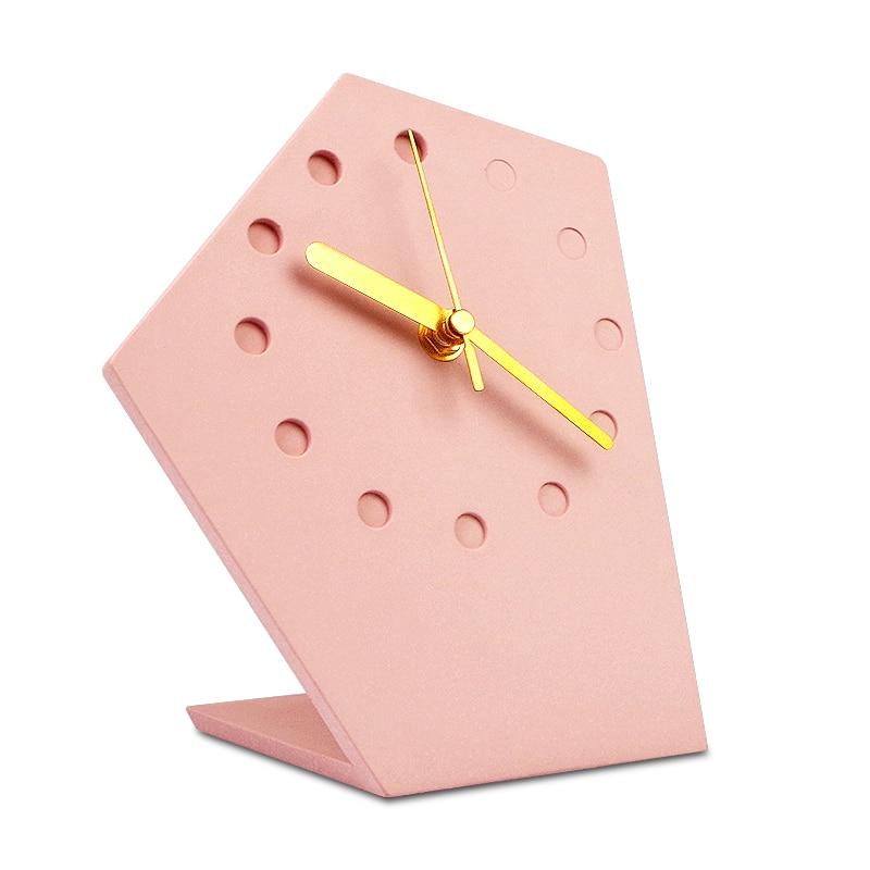 Estilo Simple de hormigón Mesa reloj Arte Abstracto viento industrial Oficina decorativo reloj