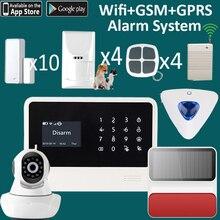 Wireless outdoor alarm sirene WiFi Alarm System APP Control home Security Alarm System mit pet motion sensor wifi kamera alarme