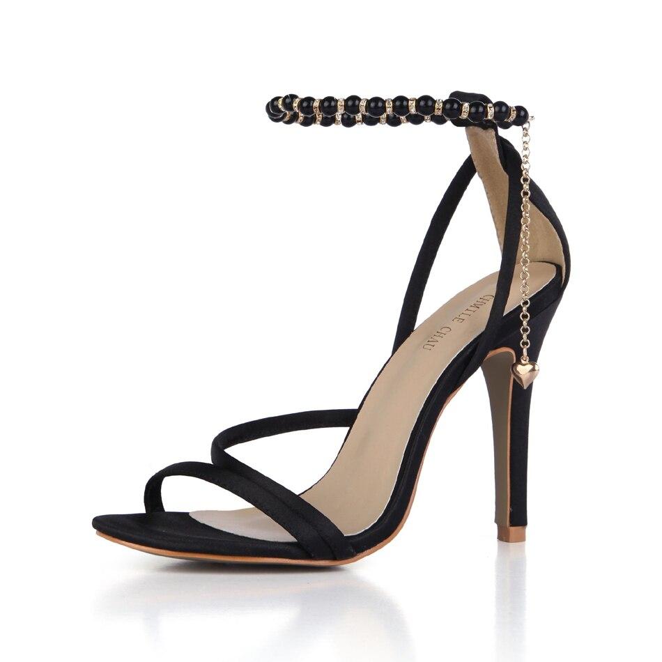 CHMILE CHAU-Sandalias de boda de satén para Mujer, Zapatos de tacón alto...