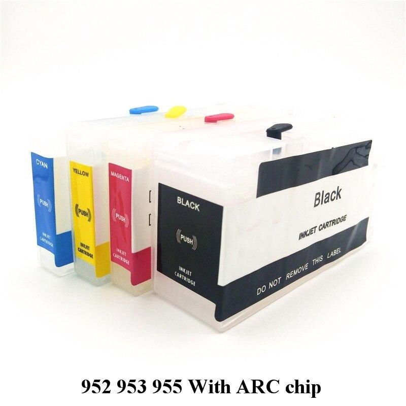 Einkshop recargable 955 cartucho de tinta con Chip de repuesto para HP 955 xl Officejet Pro 8216, 8710, 8720, 8210, 8702, 8218, 8715, 8716