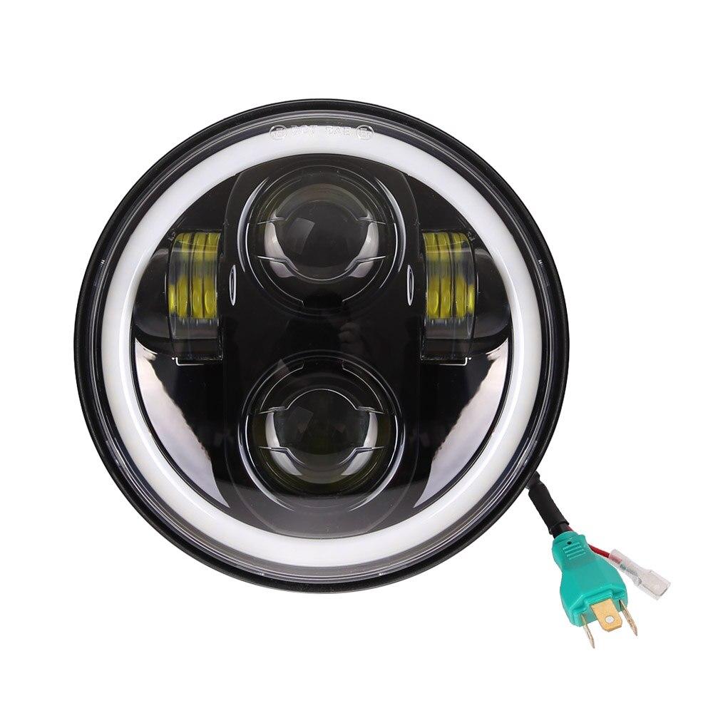 "5-3/4 ""5.75 polegada motocicleta moto led projetor completo halo farol para dyna sportster softail"