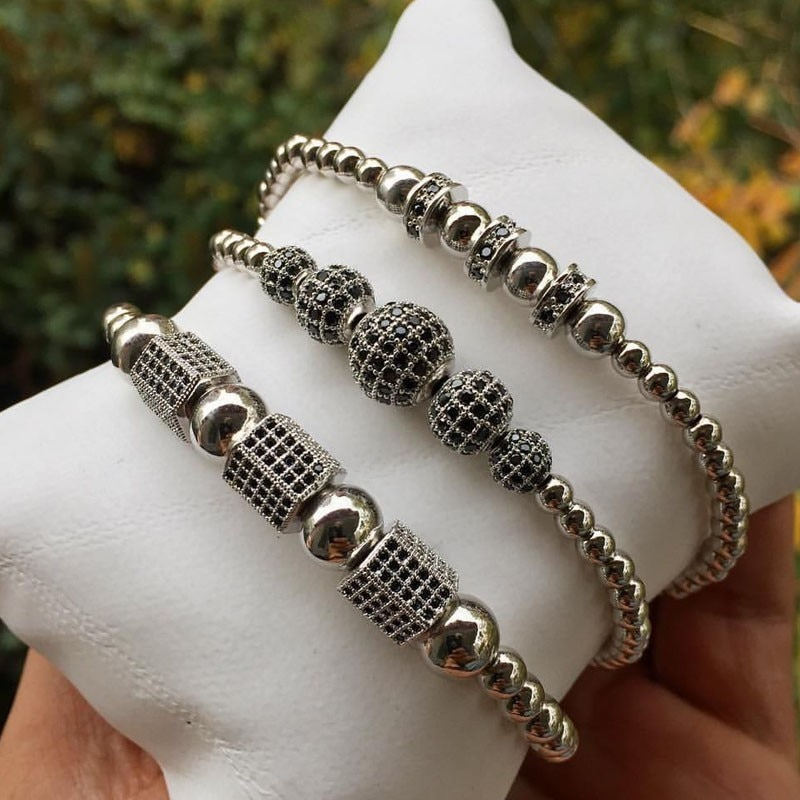 2020 novo design charme pulseira masculina moda na moda disco bola cubo trançado macrame pulseira para homens feminino jóias presente
