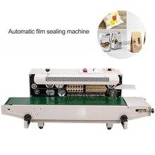 FR-880 Continue Automatische Film Sluitmachine Aluminiumfolie Zak Rand Sealer Voedsel Verpakking Machine 220V/110V 850W 1 Pc